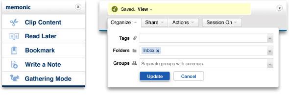 Organizza contenuti direttamente a partire dal clipper