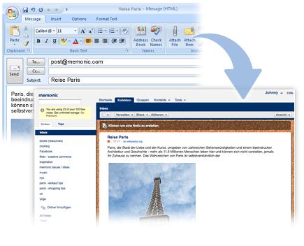 Notiz per E-Mail erstellen
