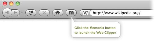 Lanciare il web clipper Memonic